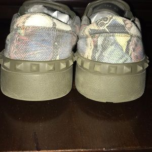 Valentino Shoes - Valentino rockstud butterfly camo sneakers